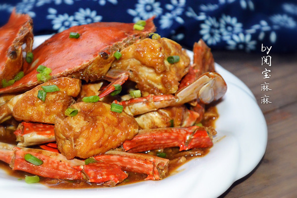 酱爆梭子蟹的做法