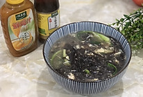 #太太乐鲜鸡汁芝麻香油#紫菜蛋花汤的做法