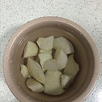 百合雪梨糖水#德国Miji爱心菜#的做法图解3