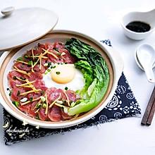 #做道懒人菜,轻松享假期#广式腊肠煲仔饭