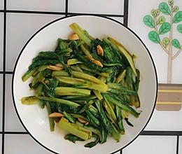 蒜香耗油油麦菜的做法