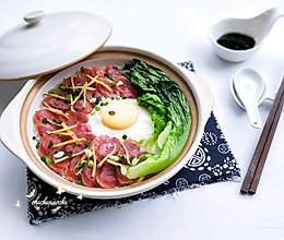 #做道懒人菜,轻松享假期#广式腊肠煲仔饭的做法