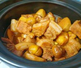 #鲜到鲜得,月满中秋,沉鱼落宴#板栗芋头酱五花肉的做法
