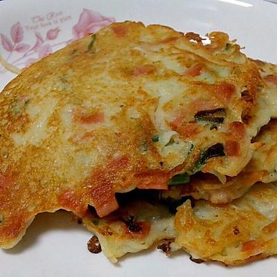 美味早餐饼――土豆火腿