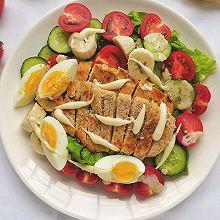 #我要上首焦#我的轻食减脂餐||果蔬鸡胸肉沙拉