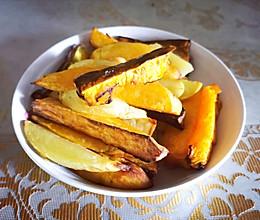烤土豆红薯南瓜条(空气炸锅)的做法