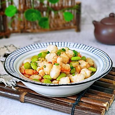 虾仁炒毛豆