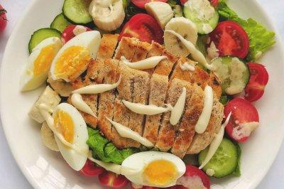 我的轻食减脂餐||果蔬鸡胸肉沙拉