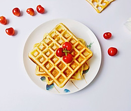 #夏日撩人滋味#无黄油版华夫饼,零失败,简单易操作!的做法