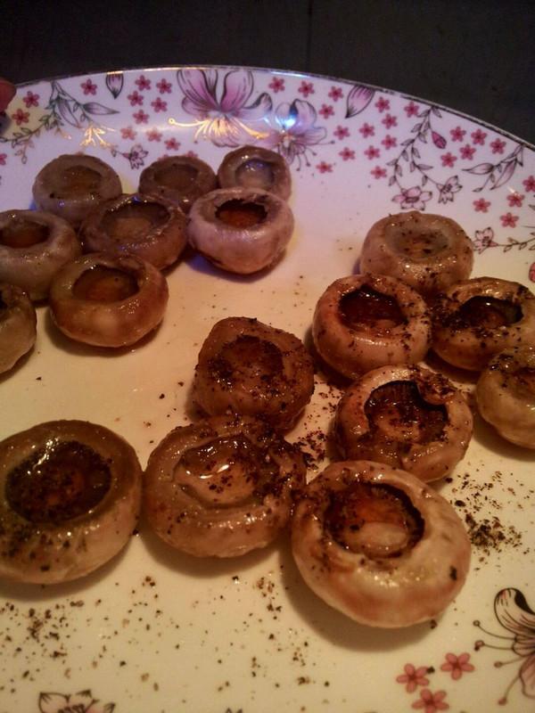 煎黑胡椒口蘑的做法