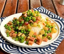 #换着花样吃早餐# 三丁下饭菜|学生营养餐的做法