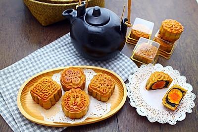 广式黑芝麻蛋黄蓉月饼