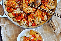 不放一滴水的浓香三汁焖鸡翅锅的做法