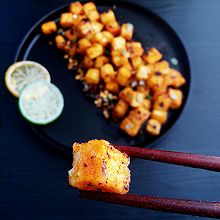 豆豉蒜香炸豆腐