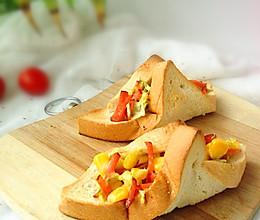 玉米沙拉三明治卷的做法