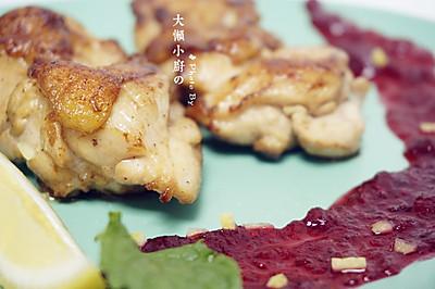 香煎鸡扒搭配蔓越莓酱