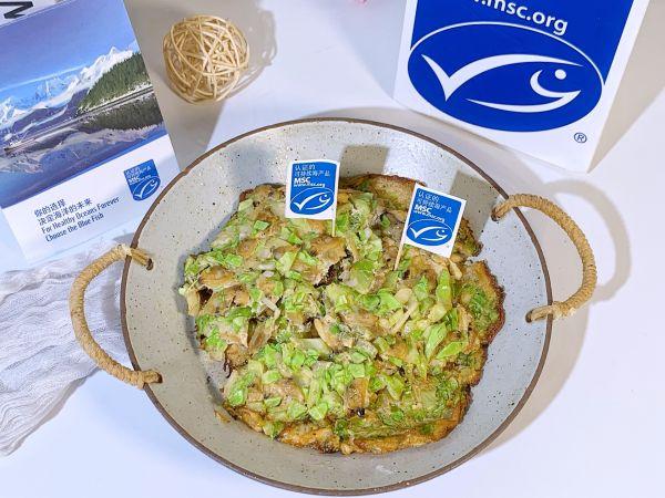 鲜美蛤蜊时蔬饼的做法