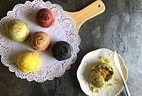 炫彩麻薯肉松蛋黄酥的做法