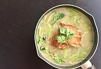 三文鱼骨汤(1人份)的做法