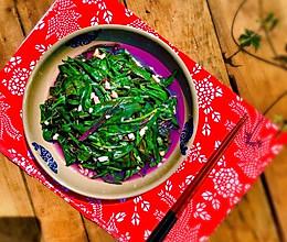 蒜蓉血皮菜的做法