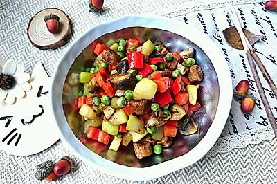 葫蘆瓜炒素肉-蜜桃愛營養師私廚減肥健身糖尿病三高食譜