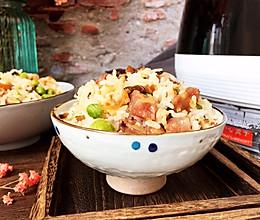 杏鲍菇腊肠焖饭的做法