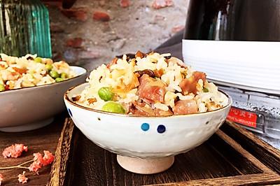杏鲍菇腊肠焖饭