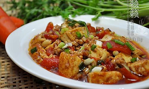 番茄肉末烧豆腐的做法