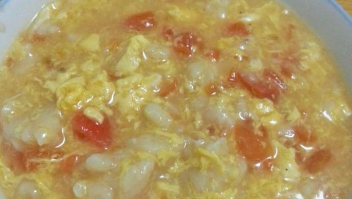 早餐要吃好 西红柿鸡蛋疙瘩汤 面疙瘩