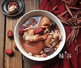 (强壯筋骨)花生猪脚筋汤的做法