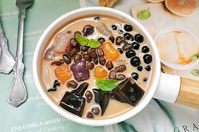 茶冻芋圆啵啵奶茶