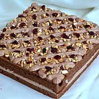 可可奶油果仁蛋糕#美的烤箱菜谱#的做法图解28