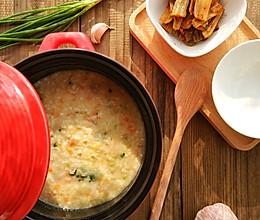 杂蔬肉粥的做法