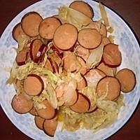 香肠炒白菜