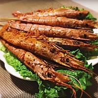 椒盐阿根廷红虾的做法图解4