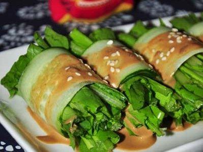 麻汁油麦菜的做法