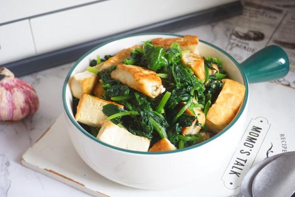 低脂不长肉,家常快手菜菠菜豆腐,补钙补铁吃它好的做法