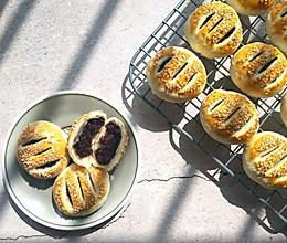 #年味十足的中式面点#黑米馅老婆饼(植物油版本,不需要出膜)的做法