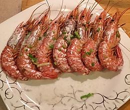 盐焗阿根廷红虾的做法