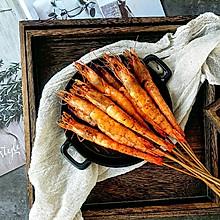#晒出你的团圆大餐#孜然烤海虾