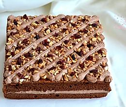 可可奶油果仁蛋糕#美的烤箱菜谱#的做法