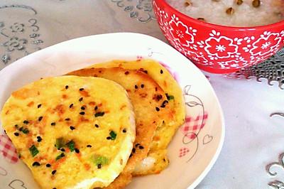 早餐系列→香煎馒头片+绿豆粥