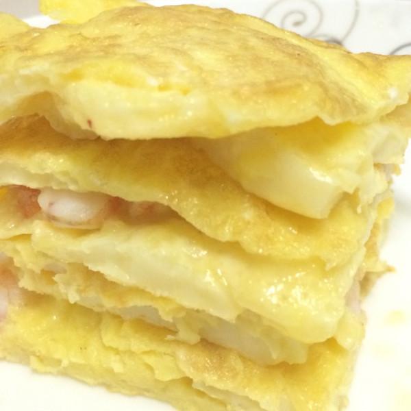 快手早餐日本豆腐鸡蛋饼的做法