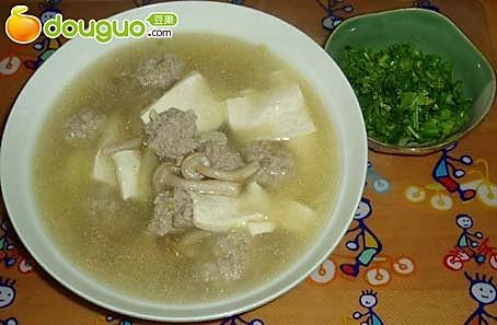日式豆腐蘑菇酱汤的做法