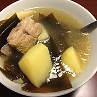 排骨海带汤的做法图解1