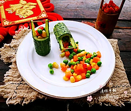 #精品菜谱挑战赛#五彩蔬菜粒的做法
