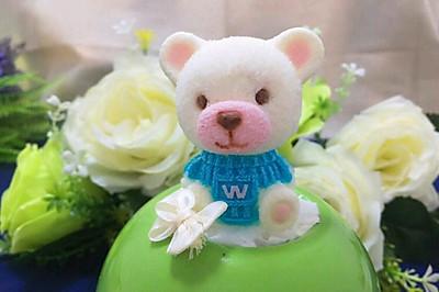 3D迷你泰迪熊慕斯蛋糕