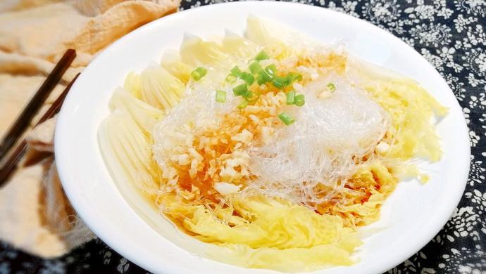 #花10分钟,做一道菜!#快手蒜蓉粉丝娃娃菜