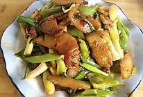 蒜苗青椒回锅肉的做法