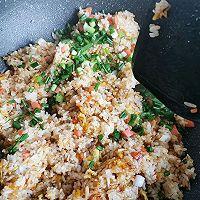 #今天吃什么#火腿肠鸡蛋炒饭的做法图解9